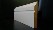 Белый напольный плинтус МДФ или плинтус под покраску